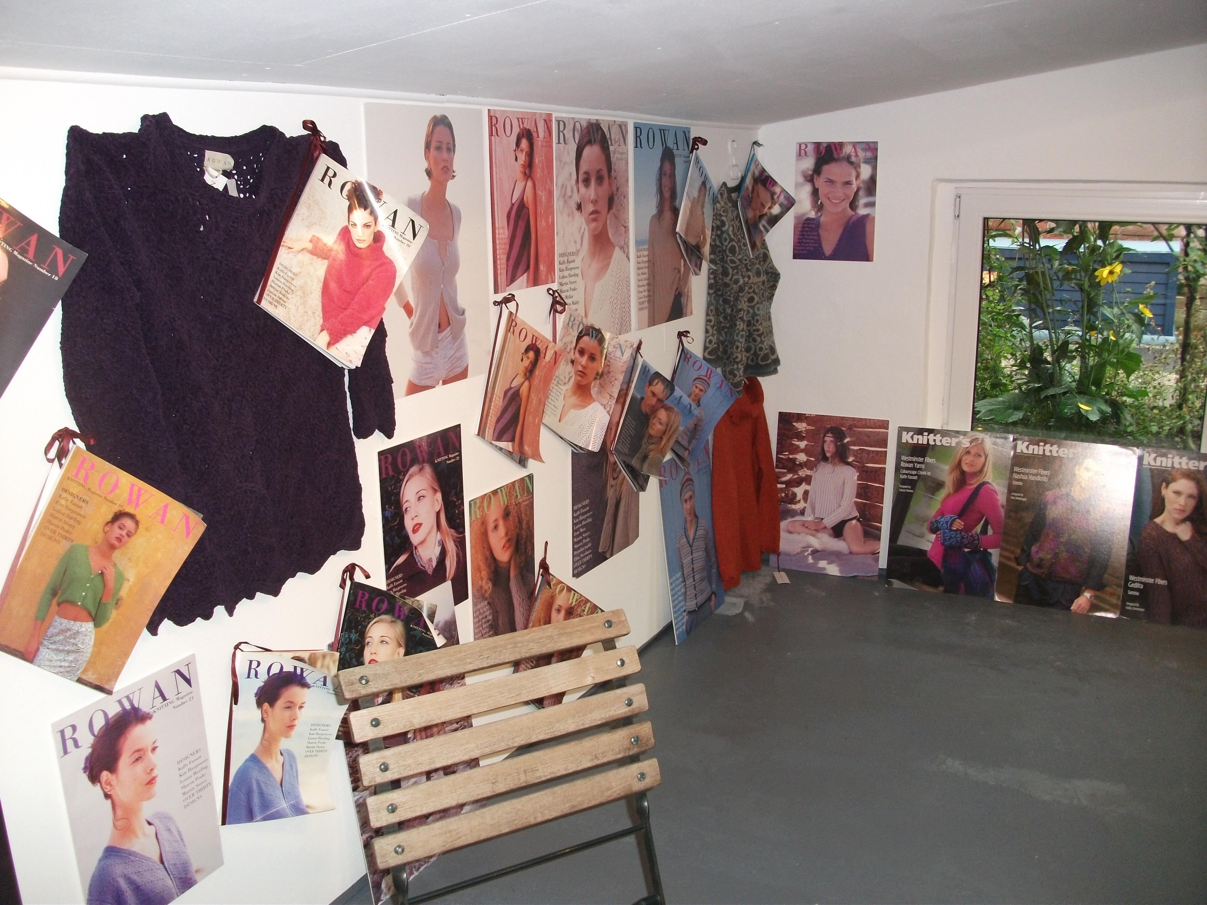 wolle und design ausstellung 30 jahre rowan und tag der offenen t r teil 1 menknit 39 s blog. Black Bedroom Furniture Sets. Home Design Ideas