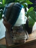 Mütze aus Noro Kureyon Fb 217, Schal aus regia Twist